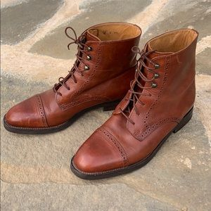 Vintage Cole Haan Lace-up Granny Boots size 9